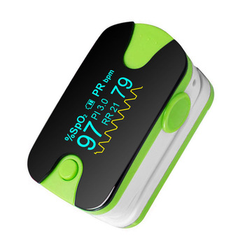 Finger Pulse Oximeter with Color OLED Display for SPO2 and Pulse Rate Measurement