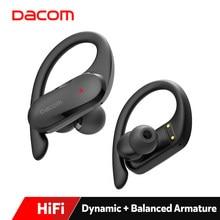 DACOM sportowiec TWS Pro słuchawki Bluetooth dla sportu hybrydowe słuchawki kierowcy prawdziwe bezprzewodowe słuchawki Stereo HiFi wodoodporne