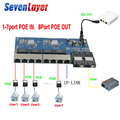 Обратное POE Питание переключатель 8 RJ45 2 SC волокно Gigabit Ethernet-коммутатор медиа конвертер волоконно-оптического кабеля UTP Порты и разъёмы 10/100/1000...