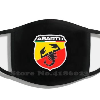 Abarth Cars Logo Diy Adult Kids Mouth Mask Abarth Carlo Fiat Auto Car Automobile 500 595 Esse Esse image