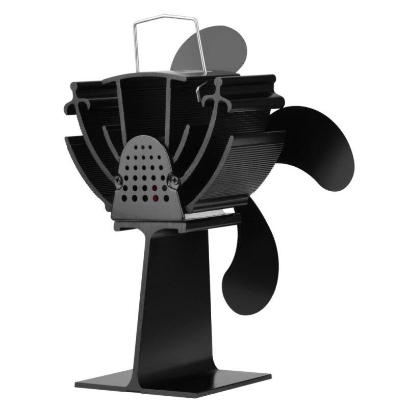 Вентилятор для камина, 4 лопасти, настенный, бесшумный, экологичный, вентилятор для печки, циркуляционный, теплый, воздушный, экономичный