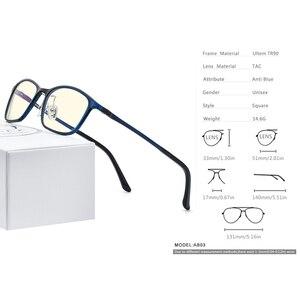 Image 4 - FONEX Ultem TR90 Anti Blau Licht Brille Männer Brille Schutz Brillen Blockieren Antiblue Gaming Computer Brillen Frauen AB03