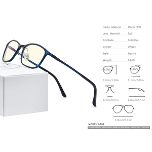 Image 4 - FONEX Ultem TR90 مكافحة نظارات الضوء الأزرق الرجال نظارات حماية نظارات حجب كمبيوتر ألعاب Antiblue النظارات النساء AB03