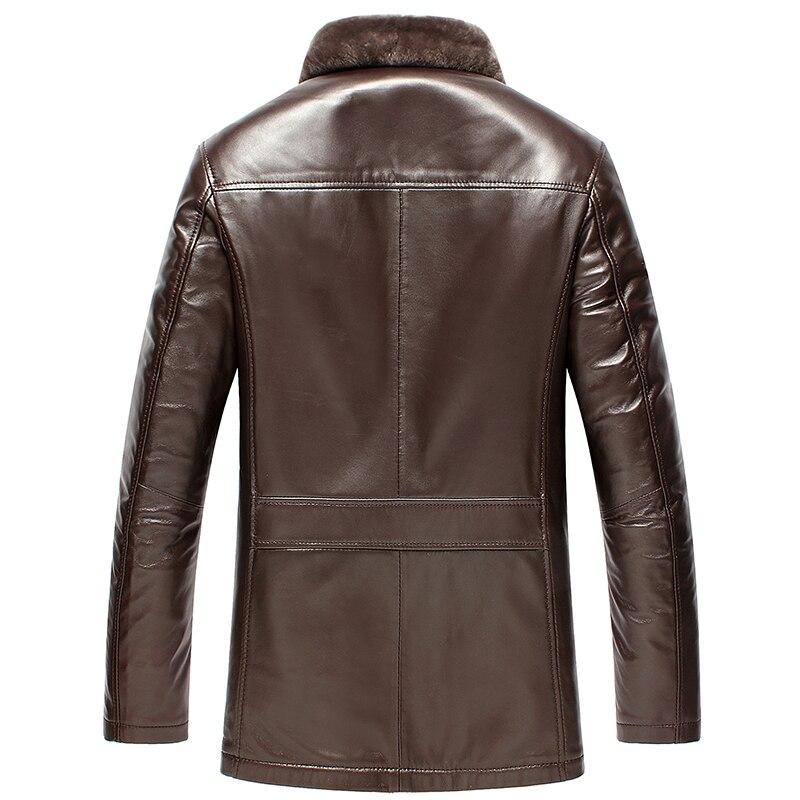 Genuine Leather Jacket Men Winter Real Woo Fur Coat Men's Sheepskin Coat Plus Size 2020 Chaqueta Cuero Hombre KJ1176
