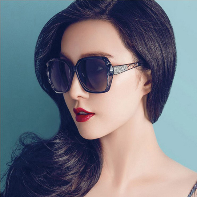 Fashion Square Sunglasses Luxury Brand Big Purple  6