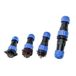 Sp16 conector à prova dip68 água ip68 cabo conector plug & soquete macho e fêmea 2 3 4 5 6 7 9 pinos