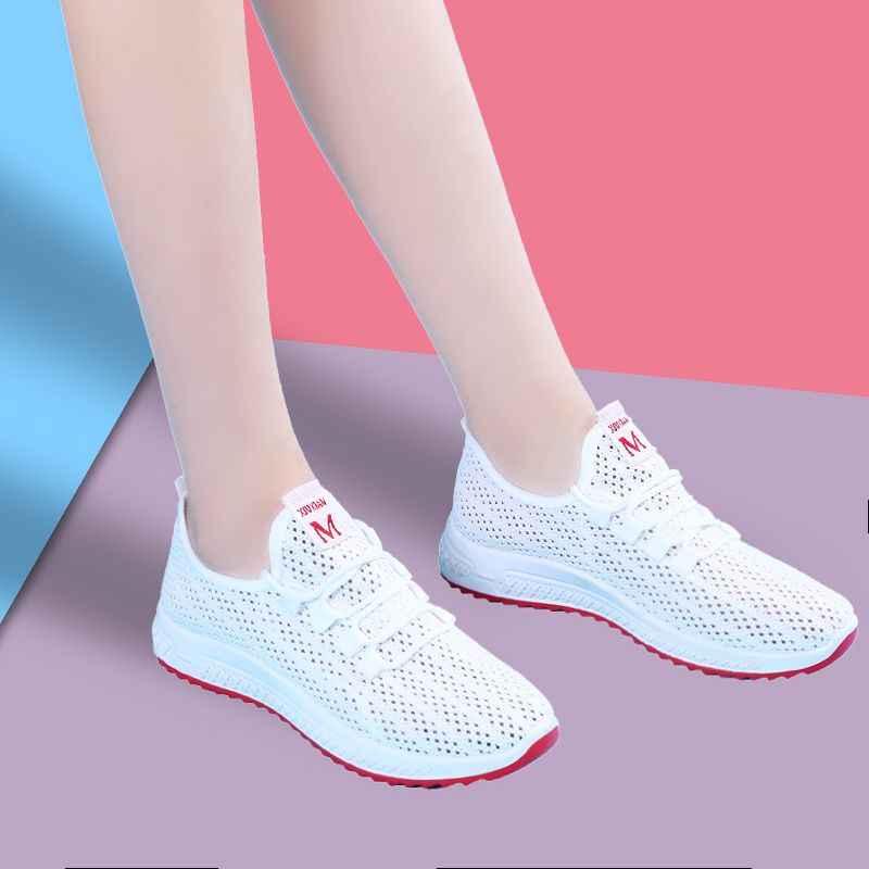 2019春の女性の靴固体新しい分厚いスニーカー女性のための加硫靴カジュアルファッションお父さんの靴プラットフォームスニーカーファム