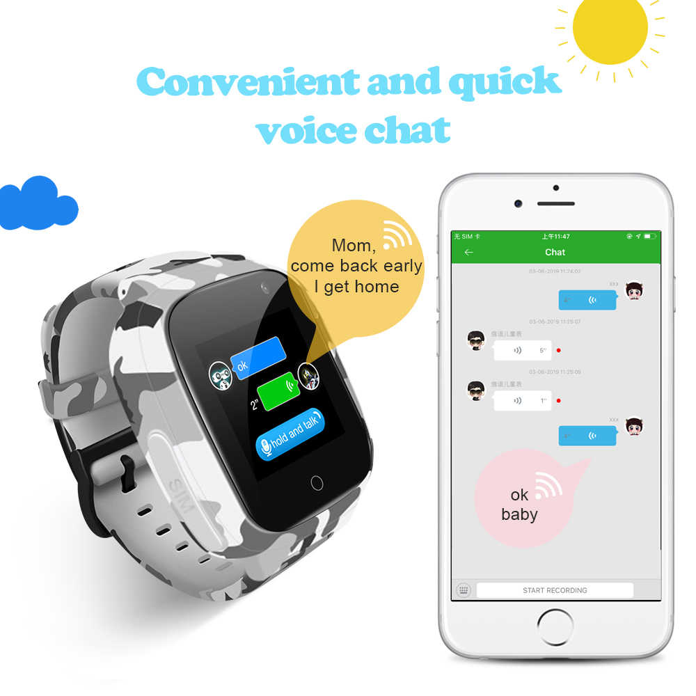 Torntisc 2019 Kids GPS Smart Watch WIFI SOS Sim Card Video Voice Call Anti-lost 0.3 MP Camera Smartwatch Kids For Children