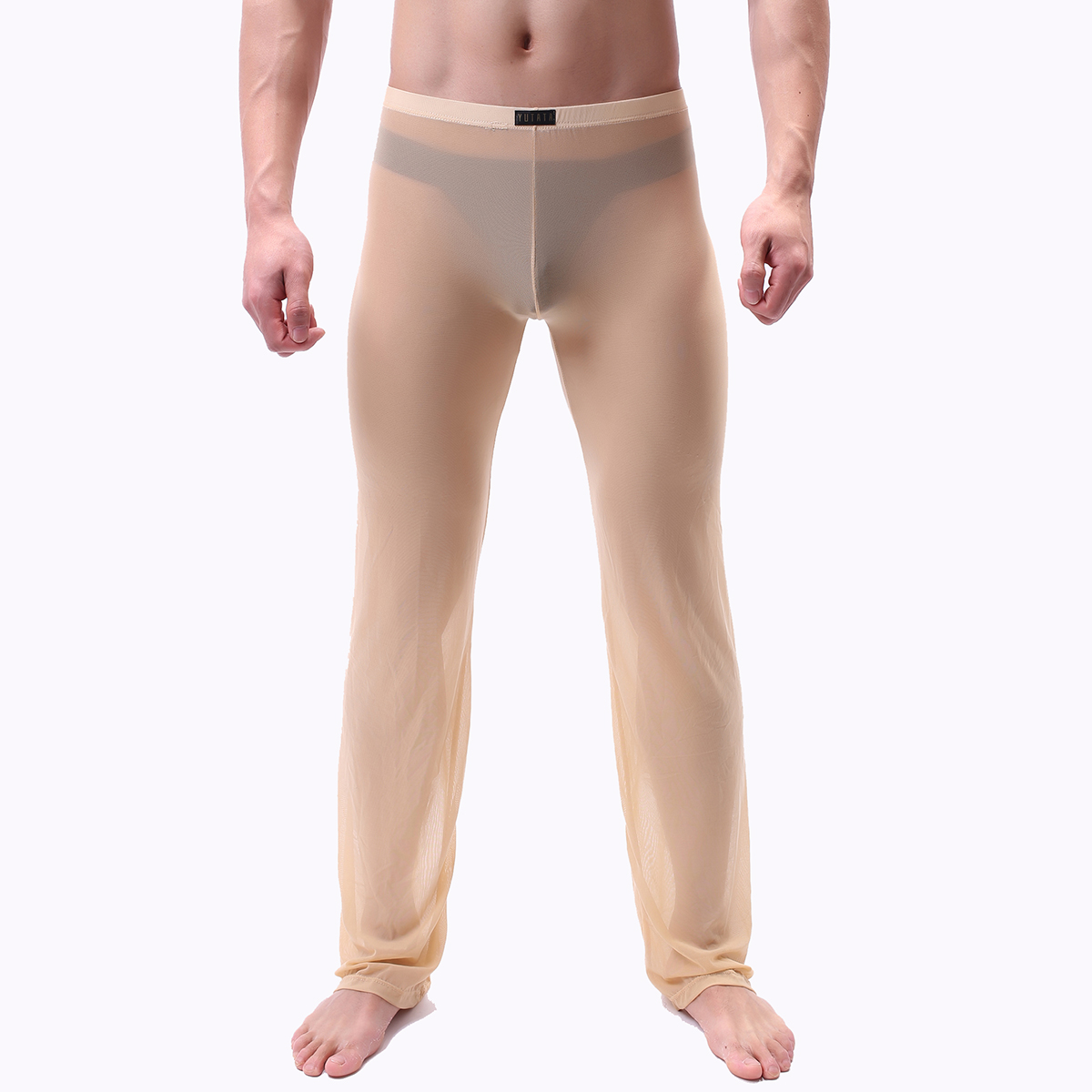 Mens Pants Mens Sleep Bottoms Home Pants Loose Sexy Mens Lounge Pants See Through Sexy Male Pajamas Sleepwear