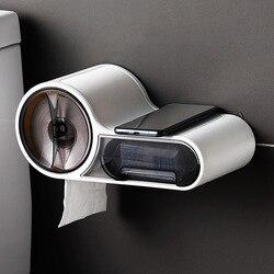 Chusteczka toaletowa wielofunkcyjny uchwyt na papier toaletowy Rack wodoodporna ściana zamontowana na rolkę papieru półka na akcesoria łazienkowe