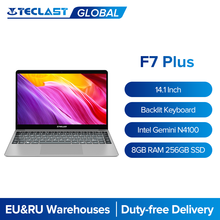 Teclast F7 Plus 14.1'' IPS 1920x1080 Laptop Intel Gemini Lake N4100 8GB RAM 256GB SSD Windows 10 Notebook Backlight Keyboard