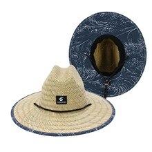 Chapéu de praia de verão chapéu de palha de palha de verão chapéu de palha de verão