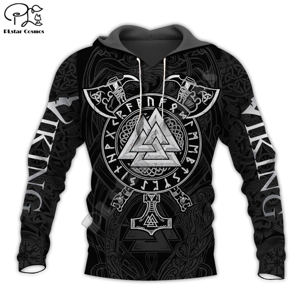 PLstar Cosmos Viking Warrior Tattoo New Fashion Tracksuit Casual 3DfullPrint Zipper/Hoodie/Sweatshirt/Jacket/Mens Womens Style-6