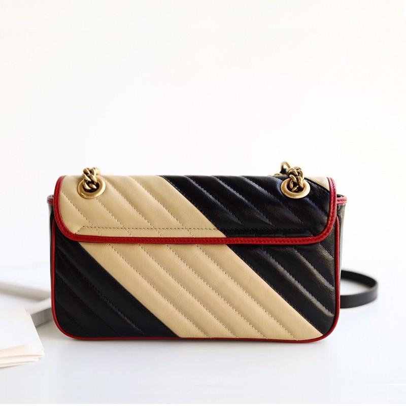 2020 new luxury handbags genuine leather shoulder bag top quality women fashion brand designer purse flap chain crossbody bags