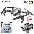 LAUMOX SG907 SG901 gps Дрон 1080P 4K HD Двойная камера wifi FPV RC Дрон оптический поток складной Квадрокоптер Профессиональный вертолет