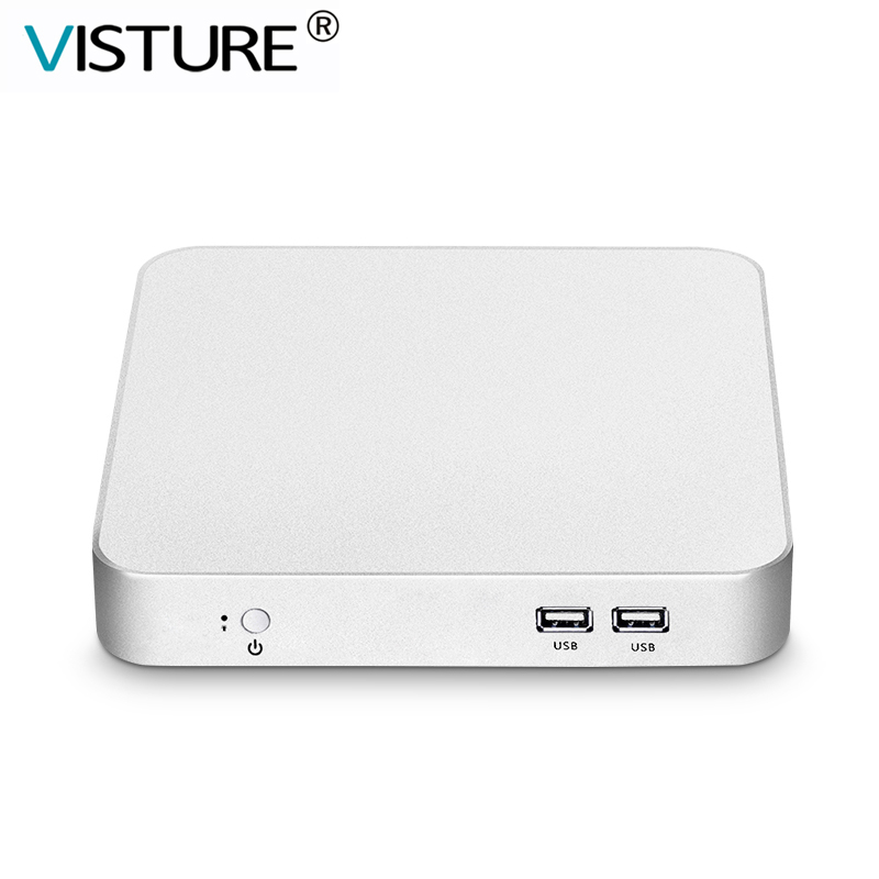 Visture 미니 PC 코어 i7-<font><b>7500U</b></font> <font><b>i5</b></font>-7200U i3-7100U 인텔 HD 그래픽 Windows 10 Linux WiFi HDMI VGA 6 * USB 데스크탑 컴퓨터 TV V100 image