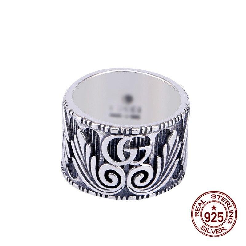 100% S925 bague en argent sterling personnalisé mode classique style lettres ouvertes bijoux pour envoyer le cadeau de l'amant 2019 offre spéciale