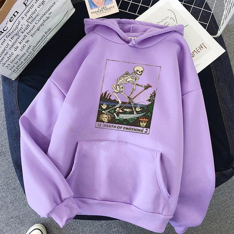 Print Anime Skull oversized Women Sweatshirt Kawaii Hoodies Hoody korean style Pullovers Female Full Sleeve top harajuku clothes 2
