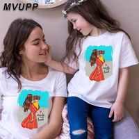 Одежда для маленьких мальчиков и девочек детская забавная футболка для женщин одинаковые комплекты для семьи футболка для мамы и дочки с пр...