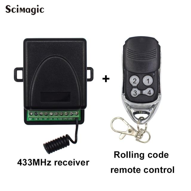 433Mhz AC-24V DC 12V 2CH relé inalámbrico módulo receptor de interruptor de Control remoto para interruptor de hogar inteligente transmisor código de giro