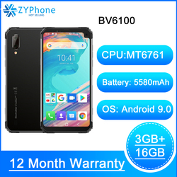 Blackview BV6100 IP68 Водонепроницаемый 6,88 дюймпрочный смартфон Helio A22 3 Гб оперативной памяти, 16 Гб встроенной памяти, Android 9,0 мобильного телефона NFC отпеч...