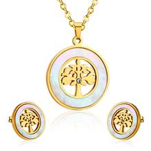 Bridal-Jewelry-Set Indian-Tree-Necklace LUXUKISSKIDS Earrings Wedding-Dubai Stainless-Steel