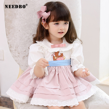Kids Dress for Girls Baby Party Dress for Kid Autumn Winter Pink Wedding Dress Girl Ball Gown 2020 Lolita Princess Vestidos