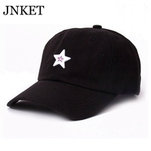JNKET Fashion Unisex Baseball Cap Five-pointed Star Embroidery Adjustable Snapback Hat  Gorras Baseball Casquette xxx embroidery adjustable graphic hat