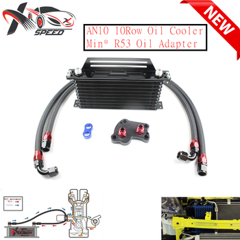 For Min* Coope* S R53 oil cooler + 10 row oil cooler AN10 10 rows oil cooler XXTOL10-16BL/BK