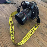 Courroie d'épaule de cou d'appareil-photo blanc cassé ceinture blanc cassé lanière pour Canon DSLR Nikon Pentax Sony Fuji accessoires d'appareil-photo