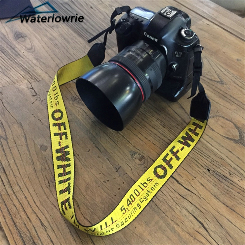 Off White Camera Neck Shoulder Strap Off-white Belt Offwhite Lanyard For DSLR Canon Nikon Pentax Sony Fuji Camera Accessories