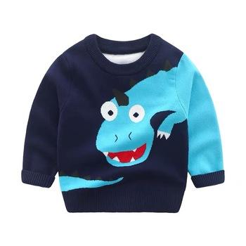 2020 dzieci sweter moda jesień 2-6 lat chłopców ubrania na co dzień bawełna zima kreskówka pełna rękaw pełna rękaw O-Neck chłopców odzież tanie i dobre opinie kiddiezoom COTTON Drukuj REGULAR Chłopcy NONE Pasuje prawda na wymiar weź swój normalny rozmiar Brak
