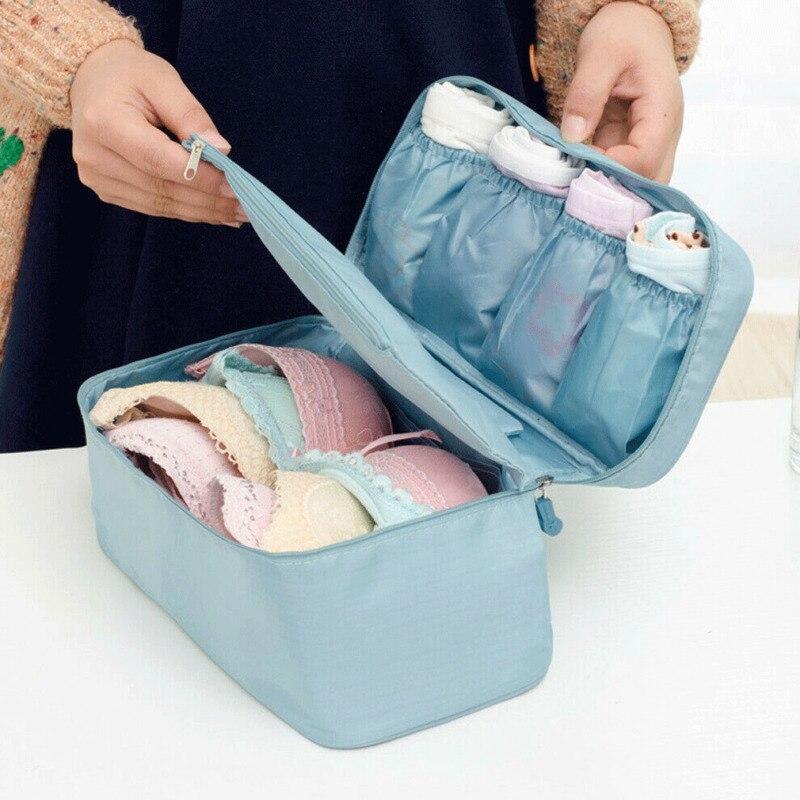 Portable Lady Zipper Storage Bag Travel Underwear Bra Sock Lingerie Organizer US