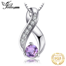 купить JewelryPalace 0.3ct Genuine Amethys Anniversary Pendant Necklace 925 Sterling Silver Jewelry Not Include the Chain дешево