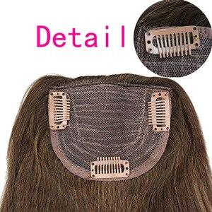 Image 2 - #4 Brazilian Human Hair Clip in Hair Bang Full Fringe Short Straight Hair Extension for women 6 8inch