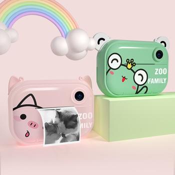 Dzieci Mini aparat fotograficzny zabawki natychmiastowy aparat fotograficzny dla dzieci aparat cyfrowy z termicznym papier fotograficzny zabawki aparat na prezenty dla dzieci tanie i dobre opinie X Y Ger Z tworzywa sztucznego CN (pochodzenie) 3 lat Unisex CC02 Edukacyjne Zabawki kamery