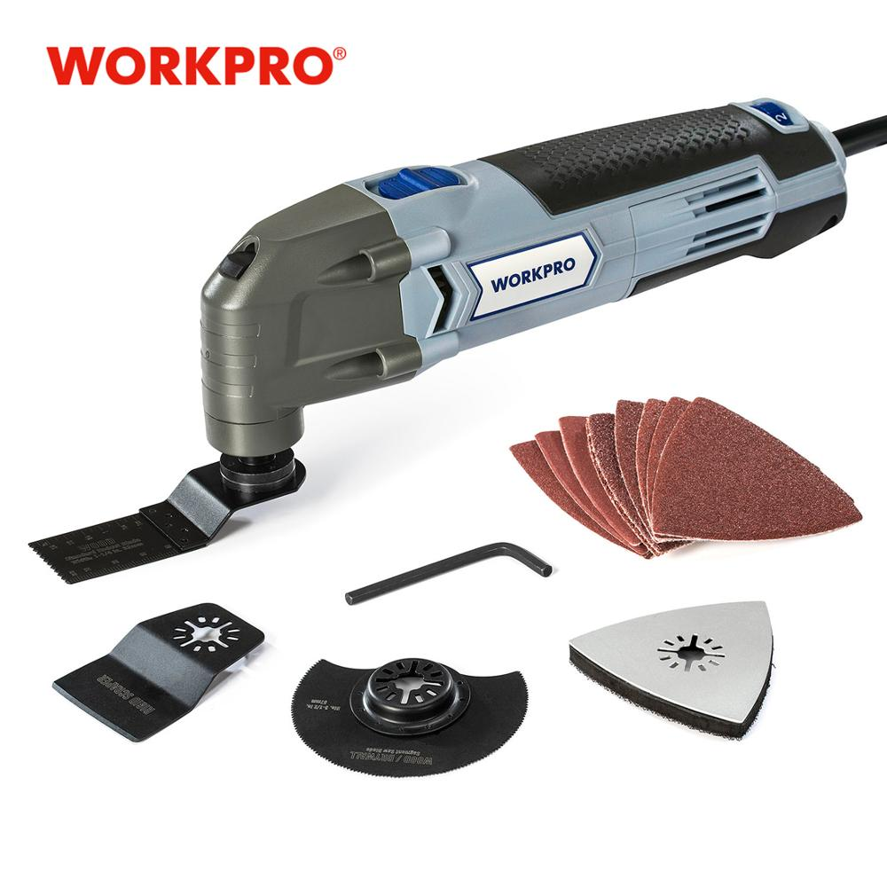 WORKPRO Oscillating Tool 220V Electric Trimmer Saw for Wood Working 300W Power Home DIY Wood Trimmer  Multi Tool-in Oscillating Multi-Tools from Tools on