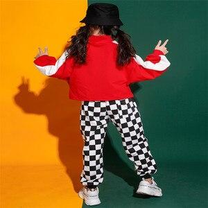 Image 4 - Jongens Meisjes Jazz Dans Kostuum Straat Prestaties Set Volledige Herfst Kinderen Kleding Hip Hop Kostuums Outfit Hoodie Broek 2 Stuks