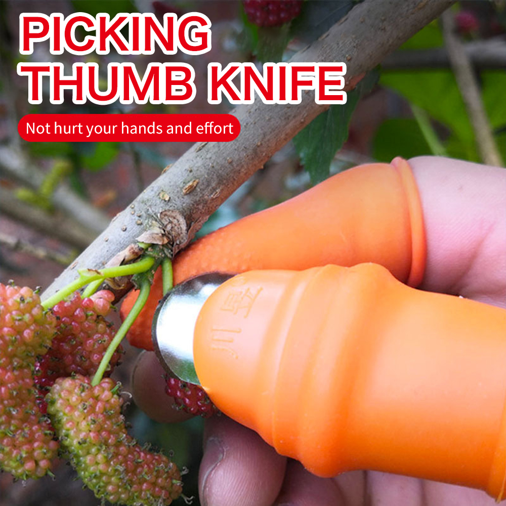 Silicone Thumb Knife Finger Protector Vegetable Harvesting Plant Blade Scissors Cutting Rings Garden Gloves Kitchen Tools