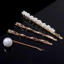 Pearls Hair Clips for Women Fashion Sweet Imitation Korean Style Hairpins Alloy BB Head-made Girls INS Accessories