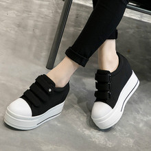 2019 autumn Fashion Canvas Shoes Women Sneakers Thick Bottom