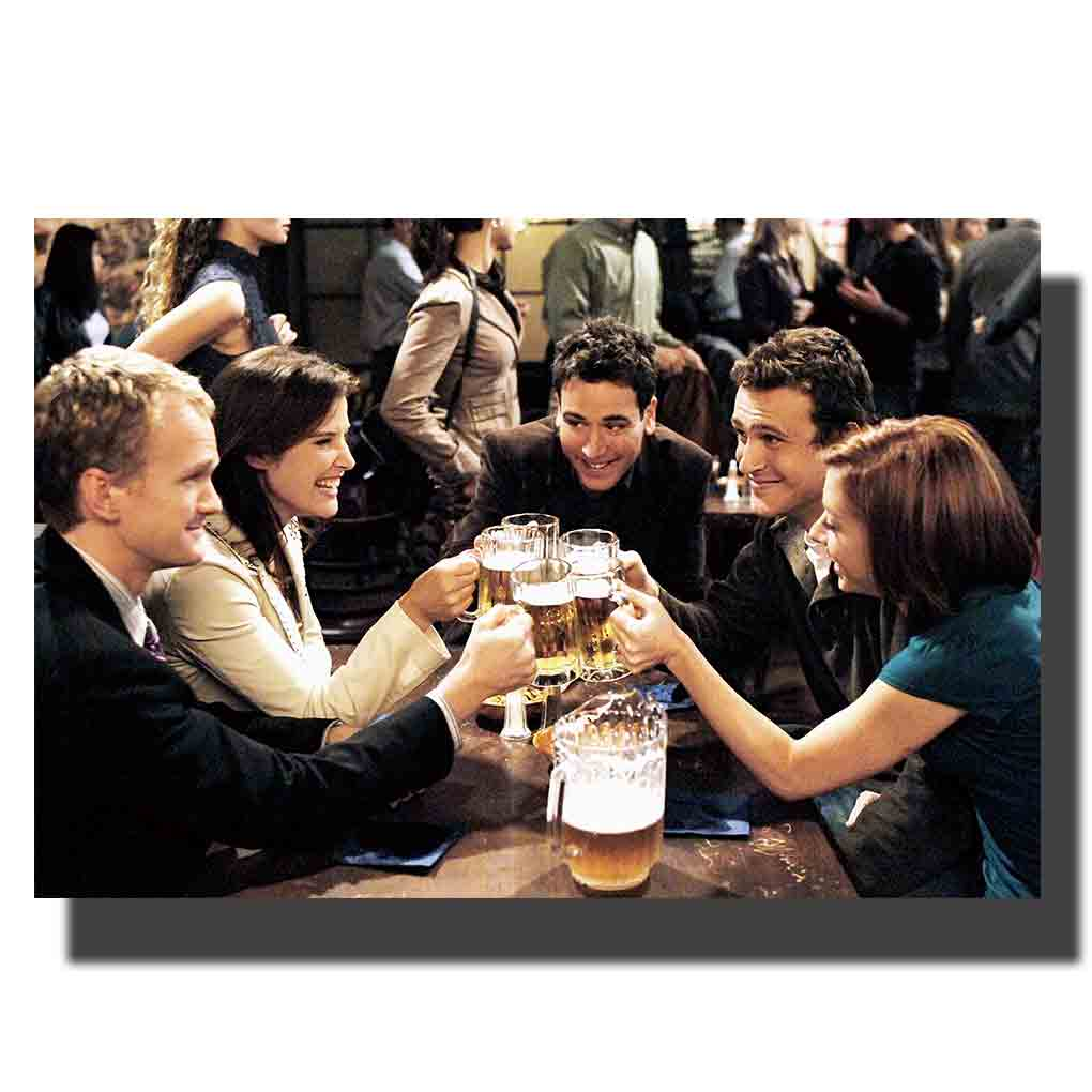 M676 How I Met Your Mother TV Series Show Actor Poster 12x18 Print Canvas Wall Pictures Decoration 24x36in image
