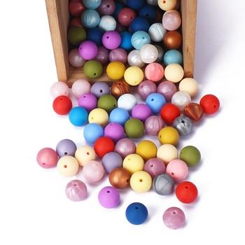15mm Silicone Beads BPA Free Food Grade 20Pcs/Lot DIY Crafts Teething Baby Teethers Wholesale