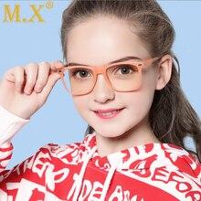 Mx комфорт дети анти-синий светильник компьютерные очки бренд дети мягкая оправа Goggle очки дети Eywear W5102
