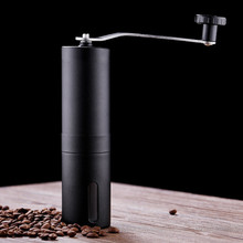 Przenośny młynek do kawy Mini ręczny podręcznik ze stali nierdzewnej ręcznie młynki do kawy Burr młynki młyn narzędzia kuchenne szlifierki krokusowe tanie tanio STAINLESS STEEL PORTABLE coffee grinder
