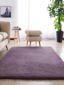 Carpet for Non-Slip Living-Room Balcony White Pink Fluffy Modern Gray Rectangular Bedroom
