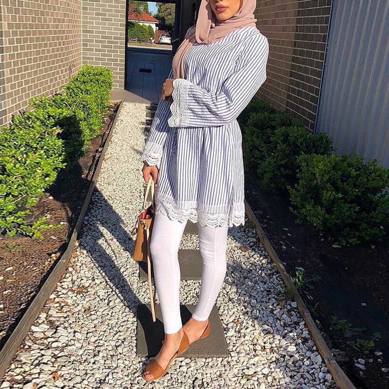 Türkei Lange Frauen Tops Abaya Moslemische Bluse Kleidung Top Vetement Femme Musulmane Arabe Ropa Musulmana Para Mujer Bokep Indonesien