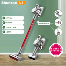 shunzao L1 Handheld Vacuum Cleaner 20000Pa Strong Suction Power Hand Stick 105AW Cordless Stick Aspirator 0.4L Big Dustbin