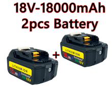 2021 novo bl1860 bateria recarregável 18 v 18000mah makita li ion 18 v bateria bl1840 bl1850 bl1830 bl1860b lxt 400 + carregador