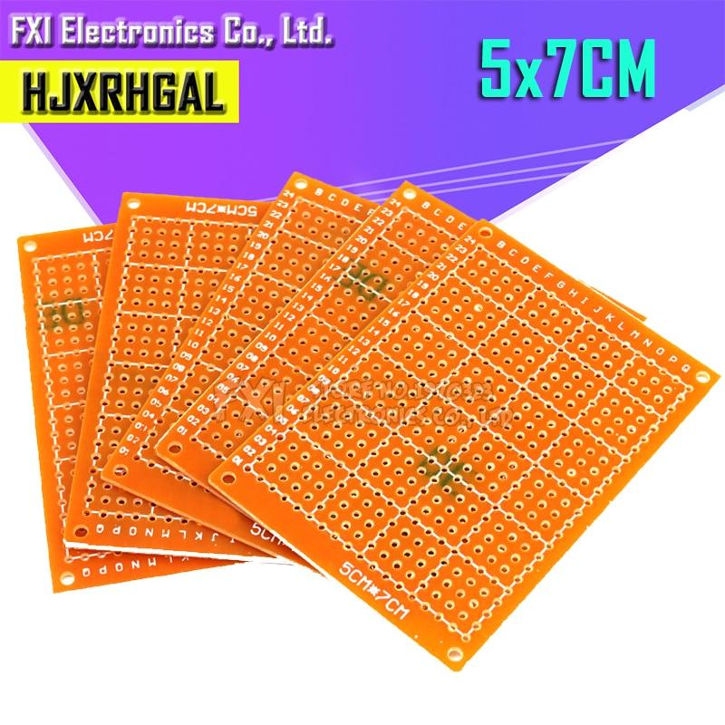 2Pcs 5*7cm Pcb Prototype Paper Copper PCB 5*7 Universal Experiment Matrix Circuit Board 5x7cm Brand Igmopnrq